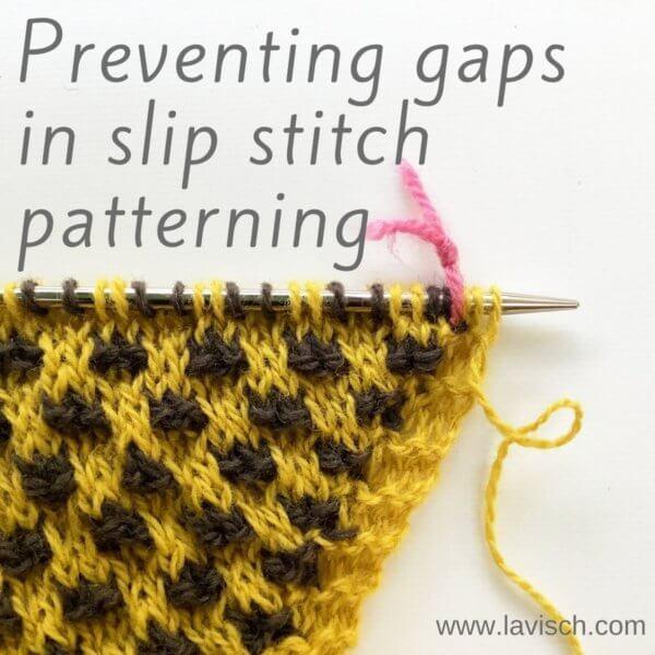 tutorial - preventing gaps in slip-stitch patterning