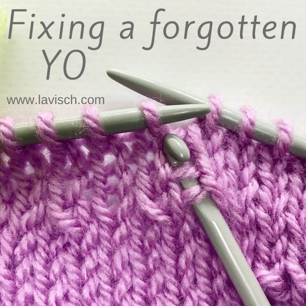 Fixing a forgotten YO - a tutorial by La Visch Designs