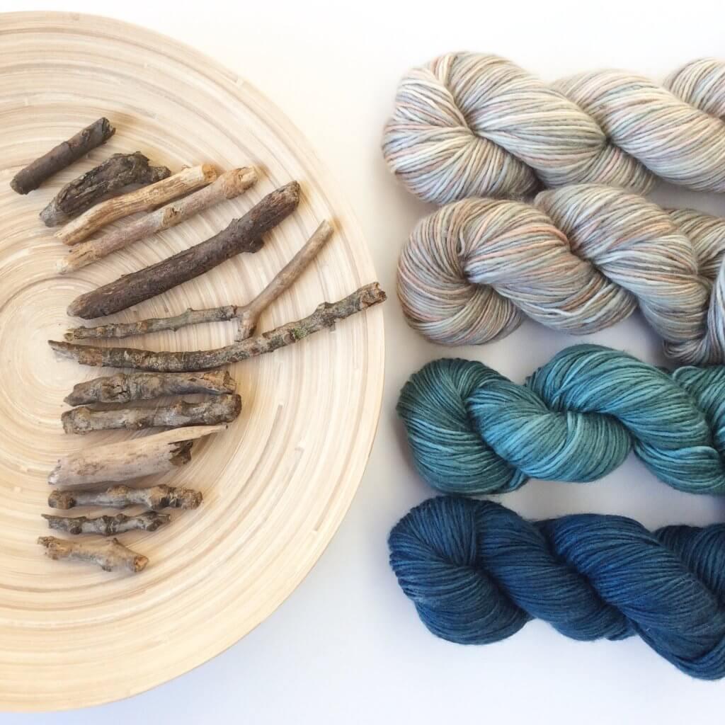 Yarn and sticks