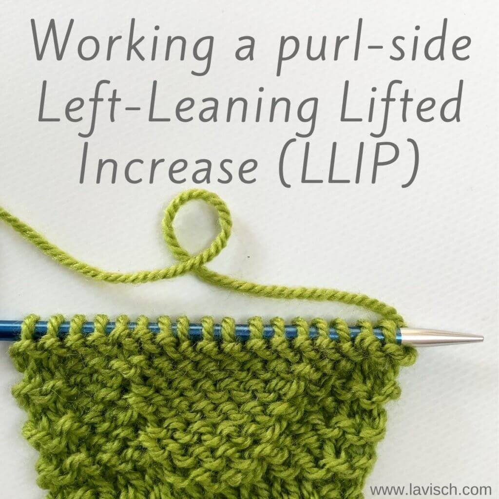 Tutorial working a purl-side left-leaning lifted increase