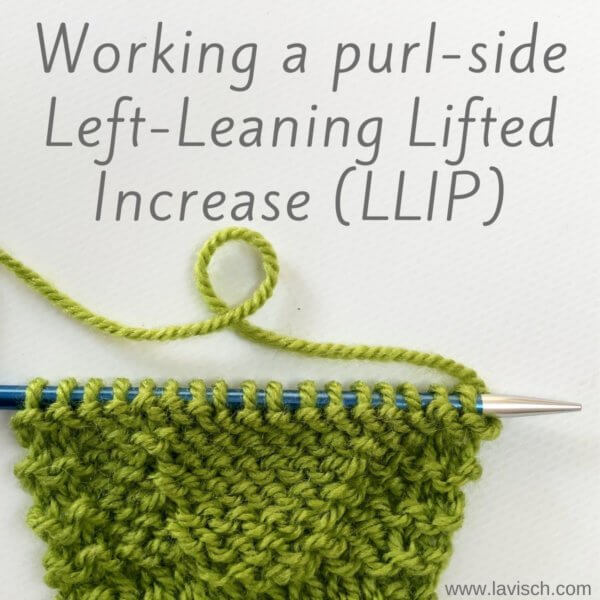 tutorial – working a purl-side left-leaning lifted increase