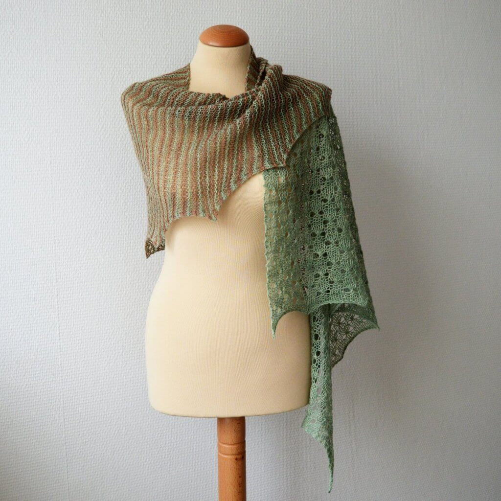 Mint Chocolate shawl by La Visch designs