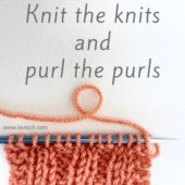 tutorial - knit the knits and purl the purls
