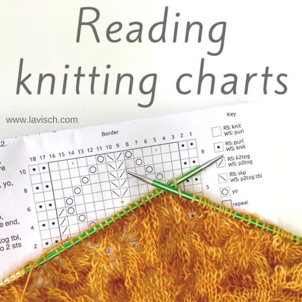 tutorial - reading knitting charts