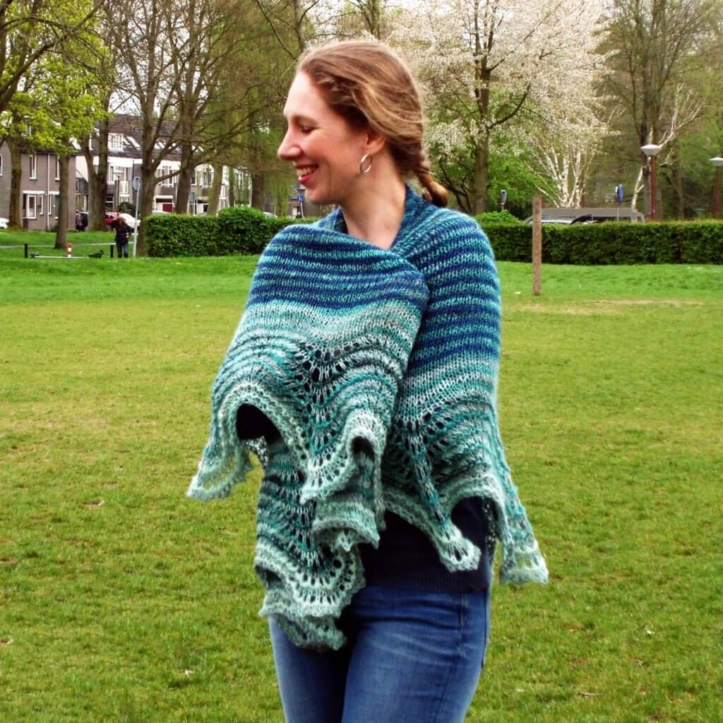Handspun Delight shawl.