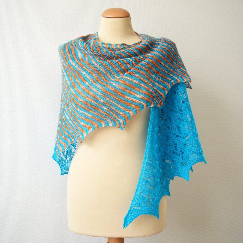 Tangerine Tango shawl