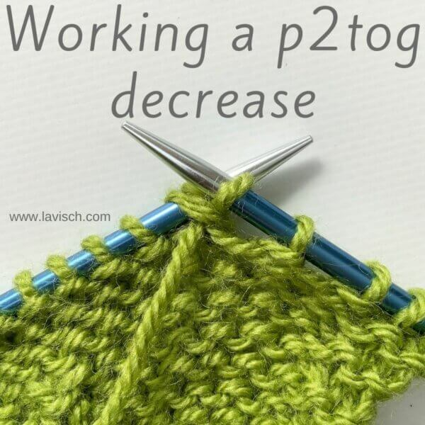 tutorial - working a p2tog