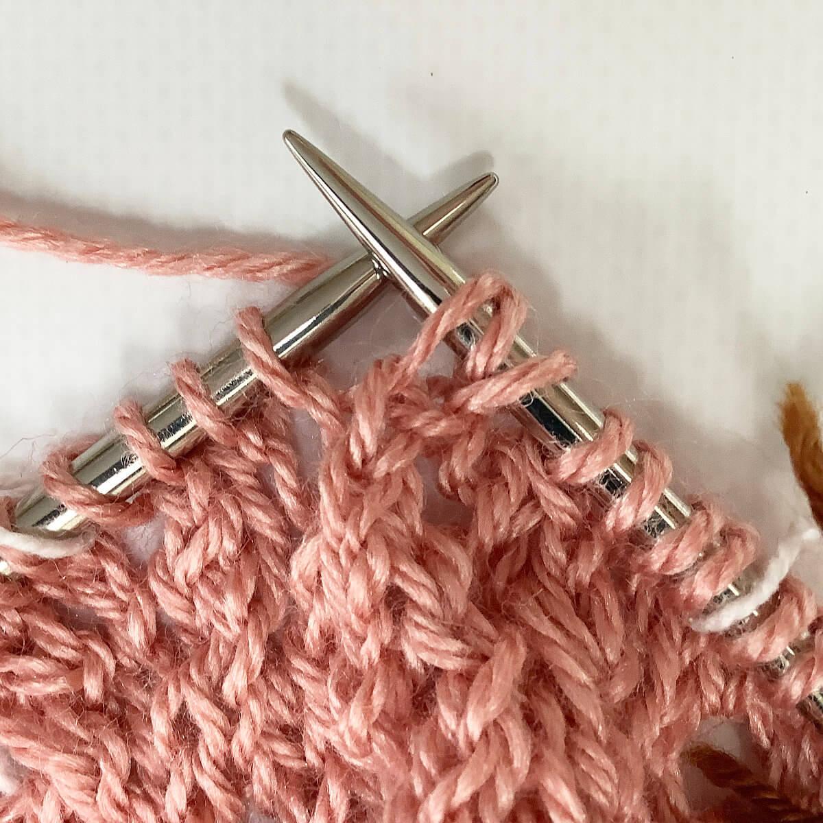 Bunny ears yo stitch - step 8
