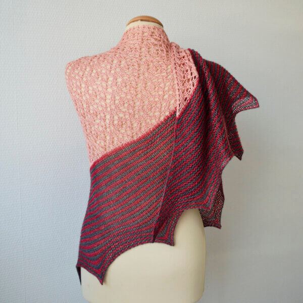 Rosy Does It - a shawl design by La Visch Designs