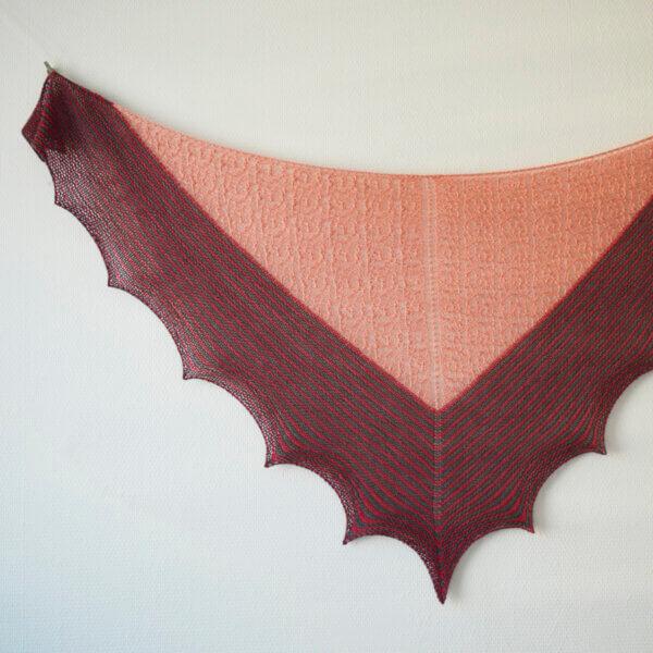 Rosy Does It - a shawl design by La Visch Designs