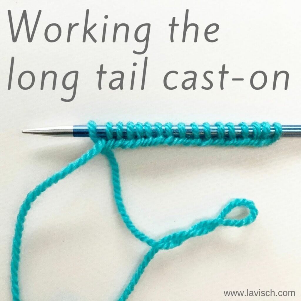 Tutorial - Working the long tail cast-on
