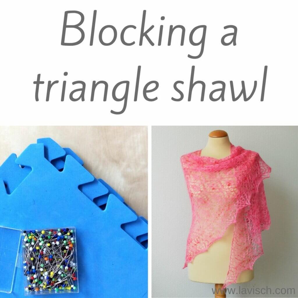 Blocking a triangle shawl