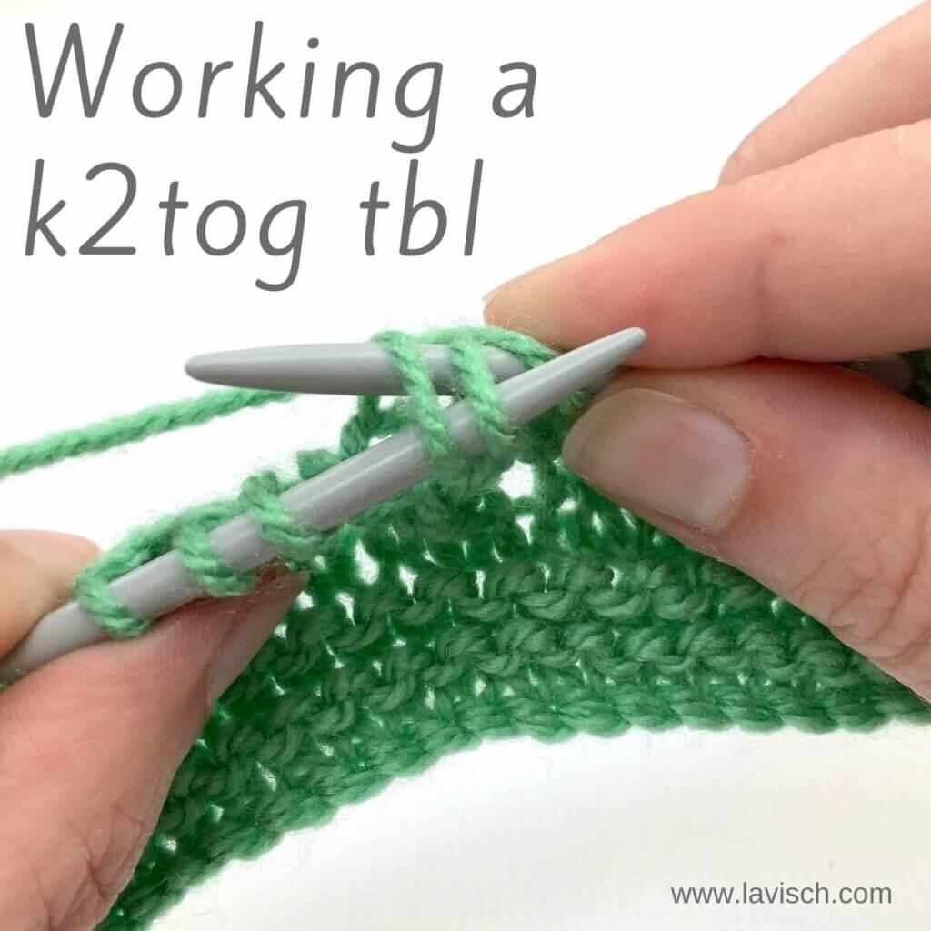 Working a k2tog tbl