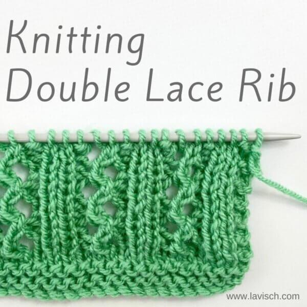 stitch pattern - double lace rib