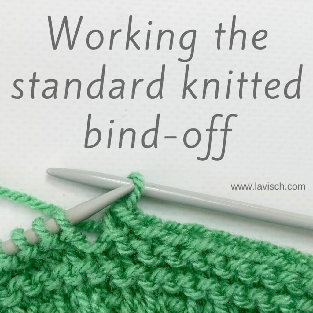 Working the standard knitted bind-off