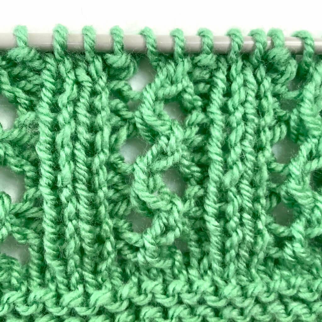Double Lace Rib stitch pattern