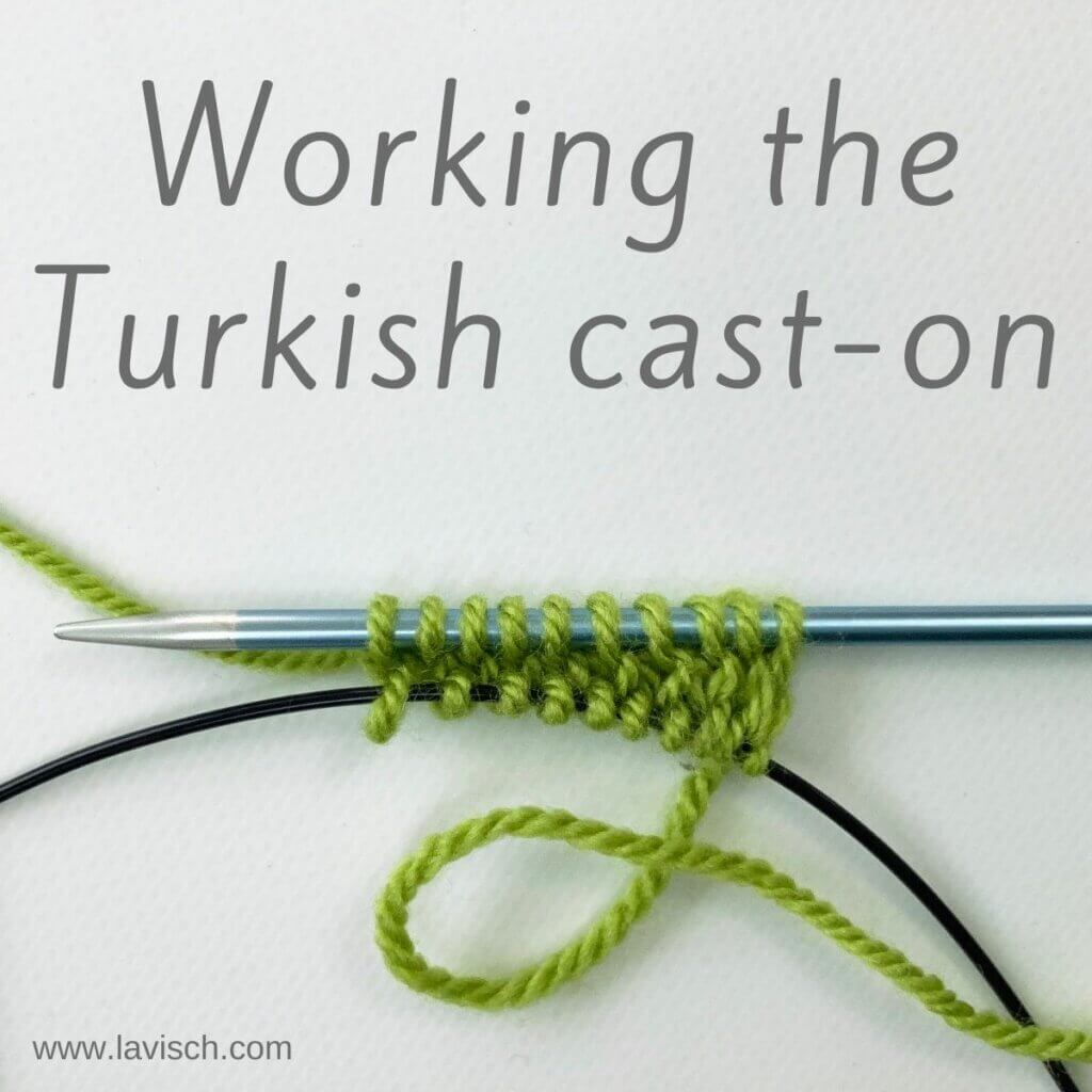Working the Turkish cast-on