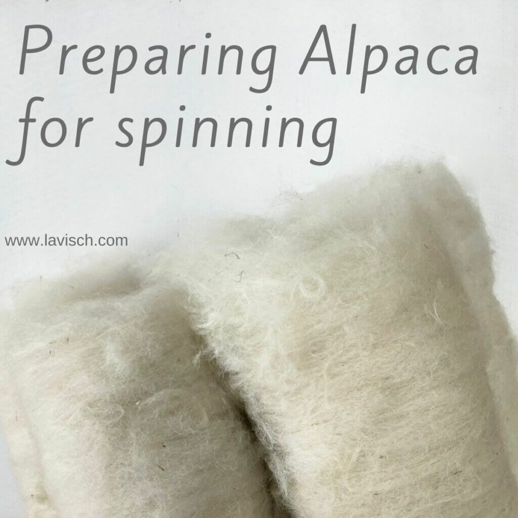 Tutorial preparing alpaca for spinning