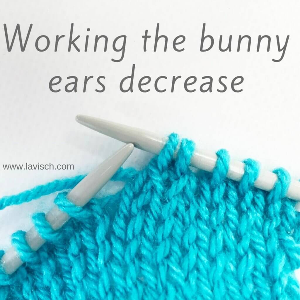 Tutorial on working the bunny ears decrease