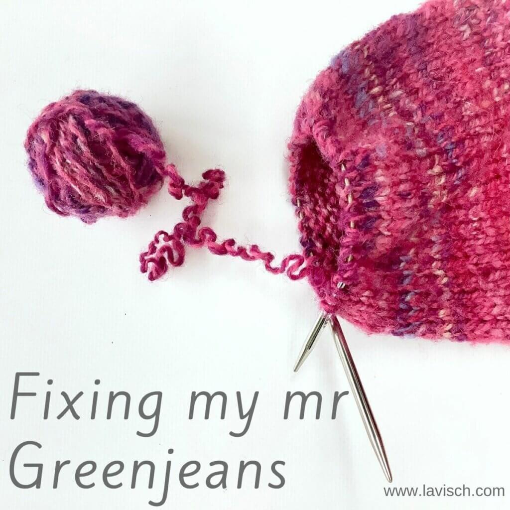 Fixing my mr Greenjeans cardigan